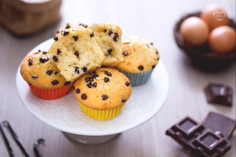 Muffin con gotas de chocolate
